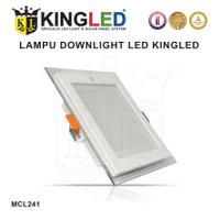 KINGLED LED PLAFON / DOWNLIGHT KACA 6WATT WARNA WARM WHITE