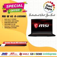 LAPTOP GAMING MSI GF63 10SCSR 1627 I5-10500H/GTX1650ti-4GB WIN10