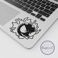 Pokemon Gastly Gengar Decal Sticker Macbook Apple Anime Stiker Laptop