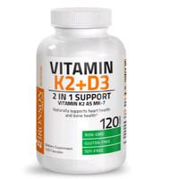 Bronson Vitamin K2 MK-7 Plus Vitamin D3 - 120