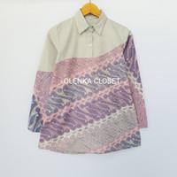 Atasan Batik 65 Baju Blus Blouse Kerja Wanita Modern
