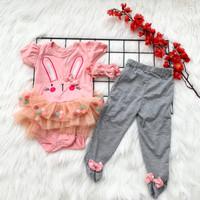 baju setelan celana legging tutu lucu anak bayi cewek perempuan -tre