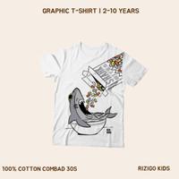 Kaos Anak Rizigo Kids Series Hiu 2-10 Tahun - Kaos Anak Laki Perempuan