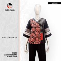 Batik Keris Blouse Lengan 3/4 Mahkuto Romo Kombinasi Lurik