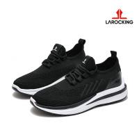 Larocking - Emperor Hitam Polos | Sepatu Sneakers Running Gym Shoes