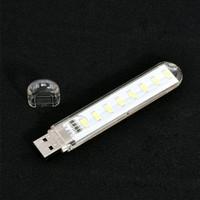 USB Mini 8 LED USB 5V LED Night Light Reading Lamp Desk Book Lampu LED