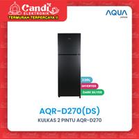 KULKAS 2 PINTU AQUA - AQR-D270(DS)