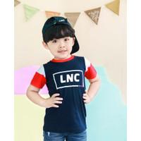 Lily And Clark Baju Anak Lak-Laki Warna Navy Combie Putih KLC33 - XS