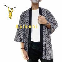 RAIKENI Kimono Batik | Kimono Jepang | Jaket Kimono Pria | Jaket Batik