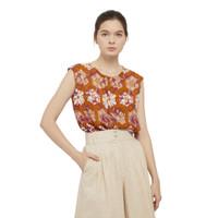 Batik Fractal Atasan Wanita Padma Sleeveless Blouse