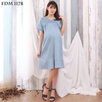 Eve Maternity Baju Hamil Denim Comfort Dress FDM117