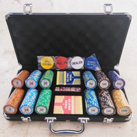 Poker Chip Coin Koin Set 300 pcs + Koper Alumunium Texas Holdem