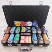 Chip Coin Koin Set 300 pcs + Koper Alumunium Texas Holdem Baccarat
