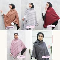 Cape Ponco Rajut Jumbo Sweater Muslimah Outer BolakBalik L-XL