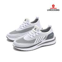 Larocking - Emperor Putih Abu | Sepatu Sneakers Running Gym Shoes - Putih Abu, 40