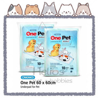 ONEMED - Underpad For Pet 60x60 cm   Alas Pipis Anjing Kucing   Perlak