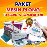 PAKET Mesin Pemotong Id Card / ID Card Cutter dan Mesin Laminating A3