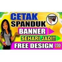 CETAK SPANDUK / BANNER / BACKDROP / BACKROUND ( SATU HARI JADI )