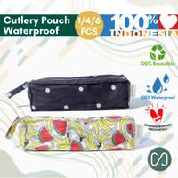 Sustaination Cutlery Set Stainless Alat Makan dengan Pouch Waterproof