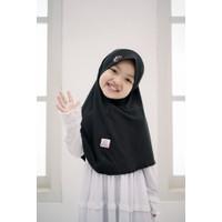 Jilbab Anak Aisha kerudung anak Jersey Premium ORI Hasanah - Black, XS