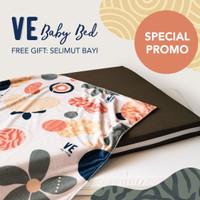PAKET COMBO Kasur Bayi Latex Free Cover Waterproof 95 x 65 x 6.5 cm - Light Grey
