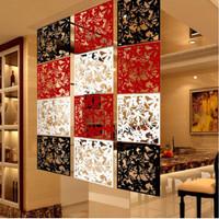 Dekorasi pembatas ruangan vintage pvc 1set isi 4bh - sekat ruangan - Merah