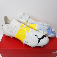 Sepatu Bola - Soccer Puma Future Z 1.1 Teaser White Yellow Black - FG