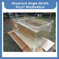 Akuarium Besar Full Akrilik PxLxT 90x35x45cm - Tanpa Packing