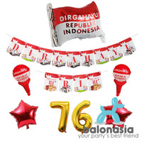 Balon Dekorasi Pesta 17 Agustus / Banner Foil Bendera Merah Putih