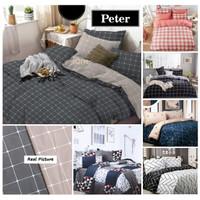 Vige Bedcover Set Katun Motif Kotak Peter Size Single   Bad Cover Set