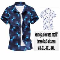 Baju kemeja Lengan Pendek Pria Big Size Motif Kotak| Hem Pria