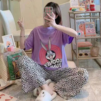 Baju tidur wanita piyama import stelan CP kaos big size //CP BR BUGSBN