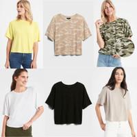 Banana Republic Soft Luxespun T-Shirt - Kaos Wanita Oversized Branded