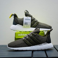 Sepatu Lari Adidas Original Questar Flow Olive Green - Olive Green, 40