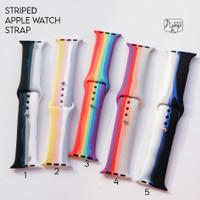 STRIPED APPLE WATCH STRAP SERIES 1 2 3 4 5 6 SIZE 38 40 42 44
