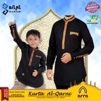 Baju Koko Kurta Muslim Ayah dan Anak Al Qarni Kokoh Couple Brand Arra
