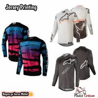 Jersey Baju Cross berpori dry fit trail bukan jaket celana motocross