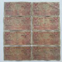 Koleksi Uang Kertas Kuno Indonesia 10 Rupiah Seri Bunga Tahun 1959