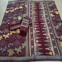 setelan kain batik sarimbit trusmi cirebon bahan dobby dobi keluarga