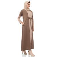 Dress Gamis Premium Wanita Muslim Two Tone Elula Dress Syar'i