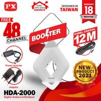 Antena TV Digital Analog Indoor Outdoor Booster+Kabel 12M PX HDA-2000