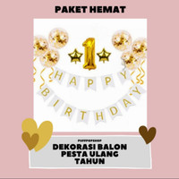 Paket Set Dekorasi Balon Pesta Ulang Tahun Hemat