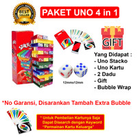 Uno Stacko + Uno Card + Gift paket 3 in 1
