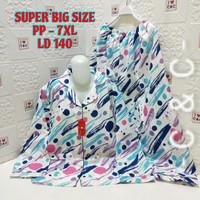 Baju Tidur Piyama Super Jumbo Big Size Lengan Panjang (PP) TD 5XL