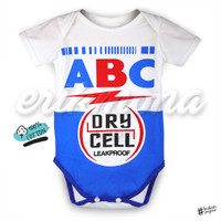baju bayi jumper bayi karakter baterai ABC lucu