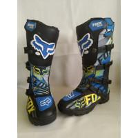 Sepatu Motor Trail Boot Fox biru