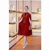 Dress Cape Martha Brukat Tulang/Fashion Wanita