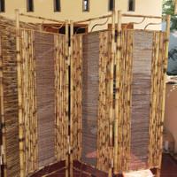 partisi penyekat ruangan minimalis bambu 3 lembar unik murah premium