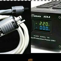 Power Purifier audio video Weiduka ac 8.8 dan kabel power HQ mantul