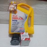 Paket Oli Shell Helix HX6 10W-40 + Filter Oli Avanza Xenia Rush